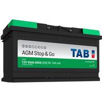 Batterie de démarrage TAB Start&Stop AGM L5 AG95 12V 95Ah 850A