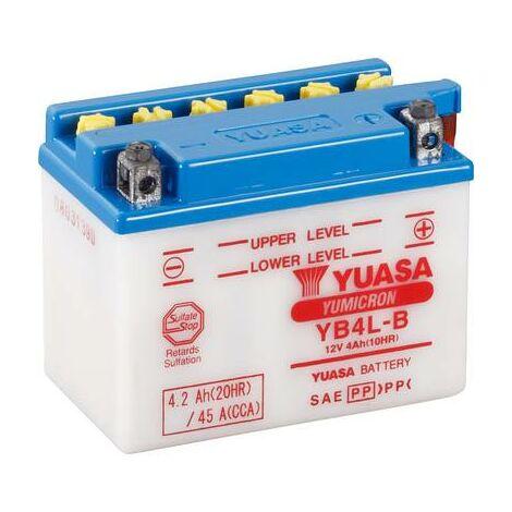 Batterie de moto Yuasa YB4LB DC 12 V 4 Ah