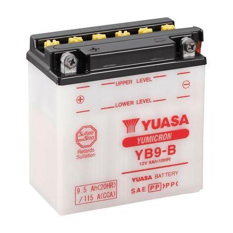 Batterie de moto Yuasa YB9-B 12 V 9 Ah