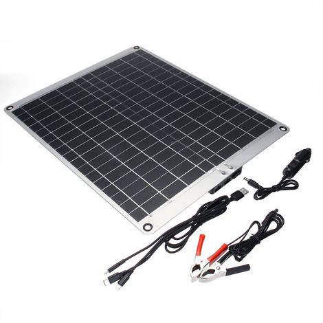 Batterie De Panneau Solaire De 30W 18V Double Usb Pour Le Téléphone De Caravane De Bateau De Voiture