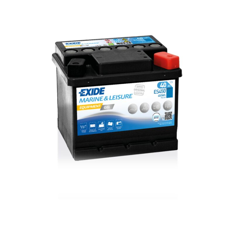 Batterie Exide Equipment Gel - Superior Lb1 12V 40Ah 280A 207X175X175 +D Es450