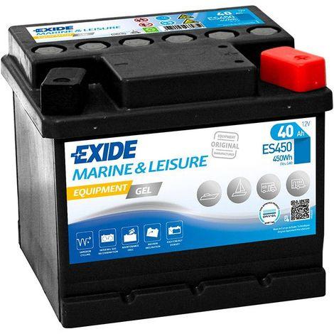 Batterie décharge lente Exide Gel ES450 12v 40ah