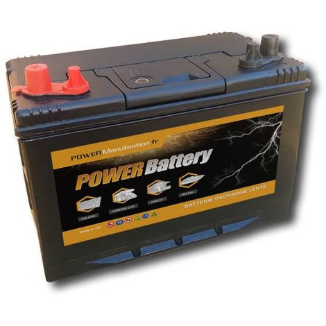 Batterie décharge lente Power Battery 12v 120ah double borne