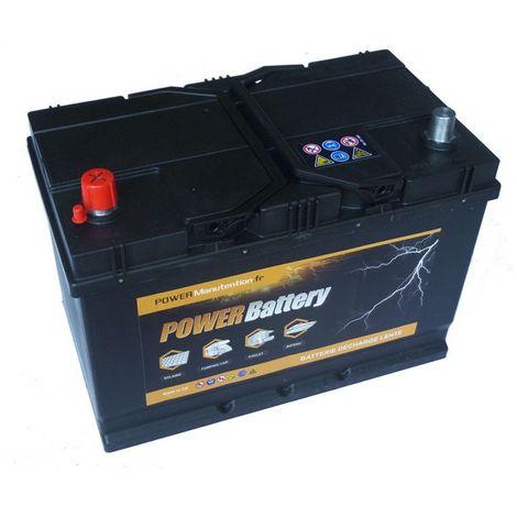 Batterie décharge lente Power Battery 12v 75ah