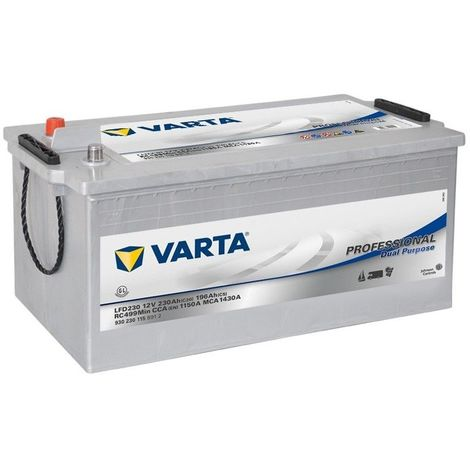BATTERIE DECHARGE-LENTE VARTA LFD230 12V 230AH 1150A