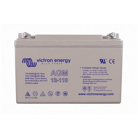 Batterie décharge lente Victron BAT412101084 AGM 12v 110ah