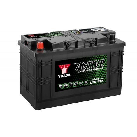 Batterie décharge lente Yuasa L35-100 Leisure 12v 100ah