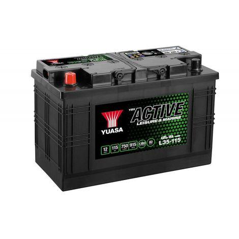 Batterie décharge lente Yuasa L35-115 Leisure 12v 115ah