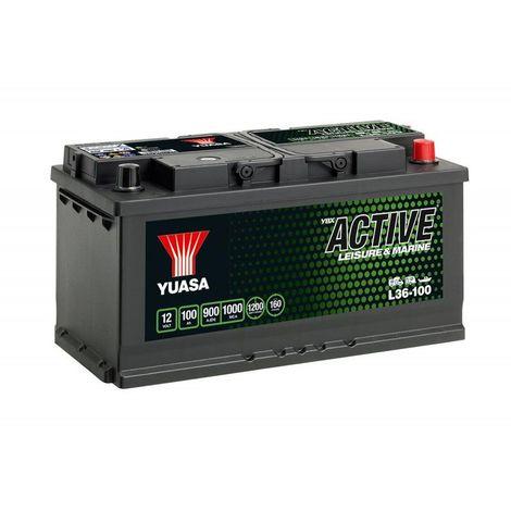 Batterie décharge lente Yuasa L36-100 Leisure 12v 100ah
