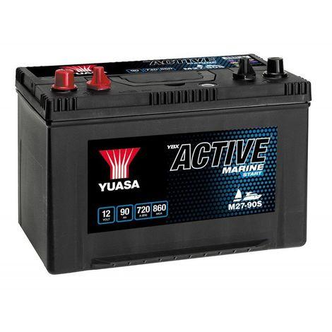 Batterie décharge lente Yuasa M27-90 Marine 12v 90ah