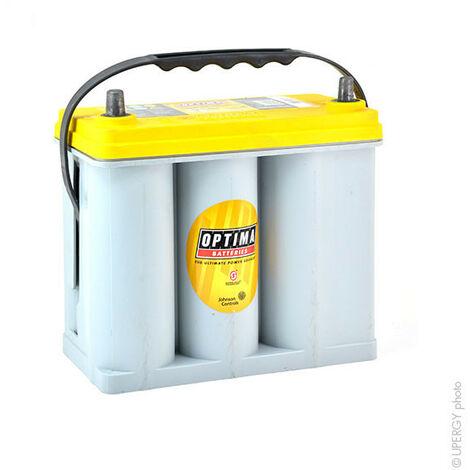Batterie démarrage haute performance Optima YellowTop YT S 2.7J DUAL 12V 38Ah -