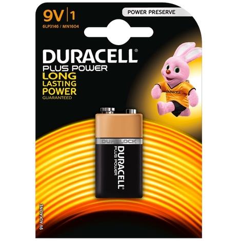 "main image of ""Batterie Duracell 9V Plus Power confezione da 1 pila Alcaline"""