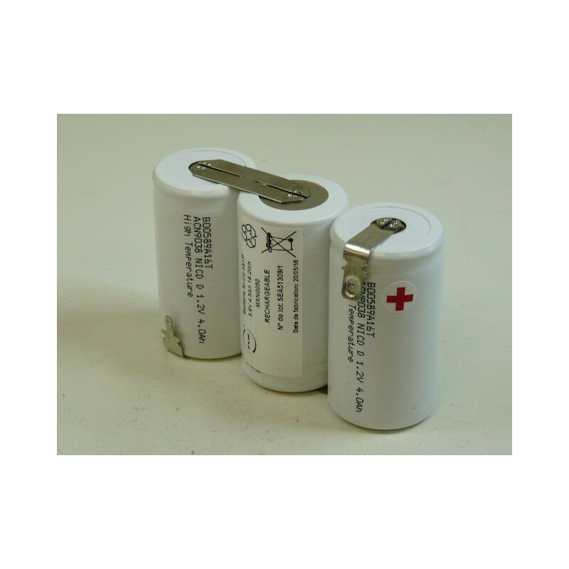 Nx ™ - NX - Batterie eclairage secours 3x D HT 3S1P ST1 3.6V 4Ah Cosse