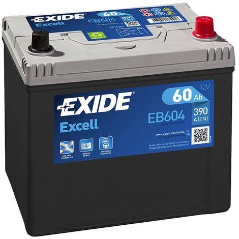 Batterie Exide EB604 12v 60AH 390A FB604