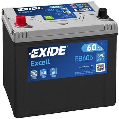 Batterie Exide EB605 12v 60AH 390A FB605
