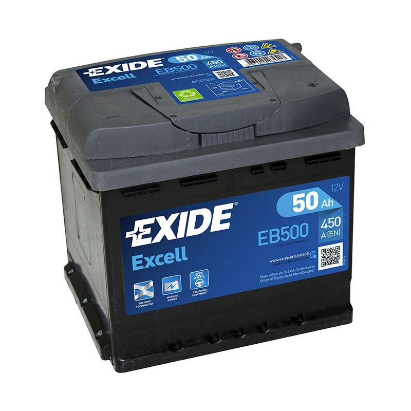 Batterie EXIDE EB500 12v 50AH 450A FB500