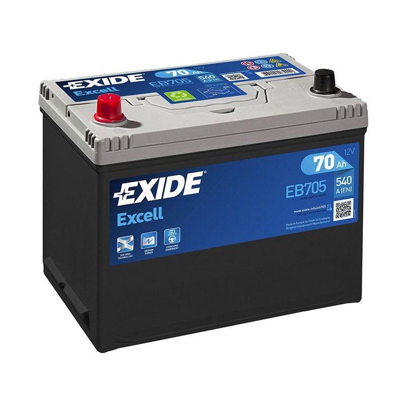 Batterie Exide EB705 12V 70AH 540A FB705