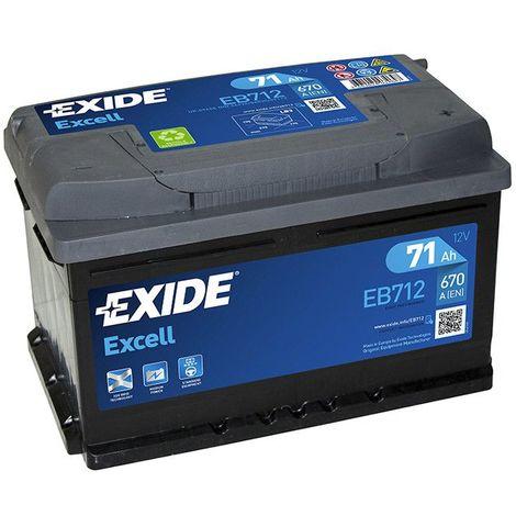 Batterie Exide EB712 12v 71AH 670A FB712