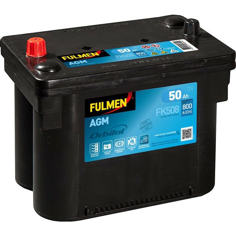 Batterie Fulmen AGM Start And Stop FK508 12V 50ah 800A
