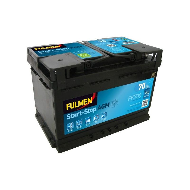 Batterie AGM Start And Stop FK700 12V 70ah 760A - Fulmen