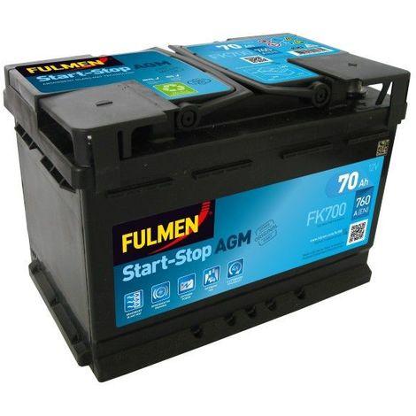 Batterie Fulmen AGM Start And Stop FK700 12V 70ah 760A
