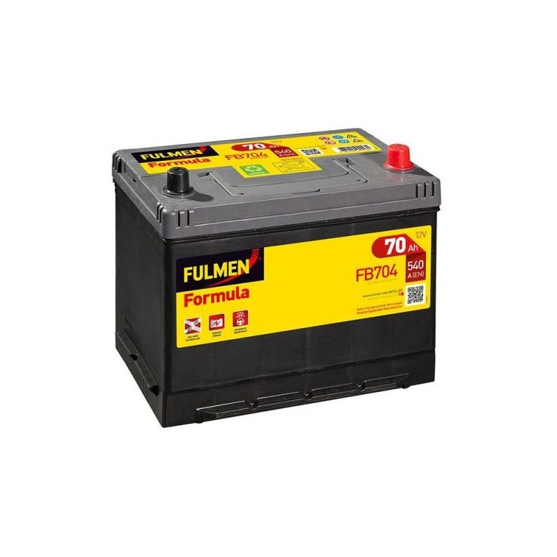 Batterie Formula FB704 12V 70AH 540A - Fulmen