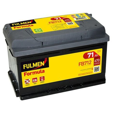 Batterie FULMEN Formula FB712 12v 71AH 670A