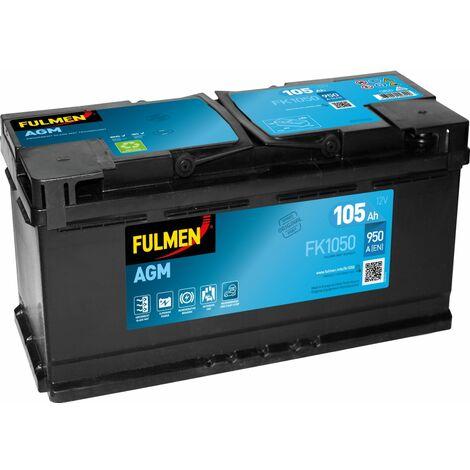 BATTERIE FULMEN START STOP AGM FK1050 12V 105AH 950A