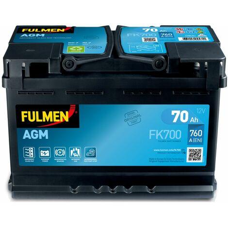 BATTERIE FULMEN START STOP AGM FK700 12V 70AH 760A