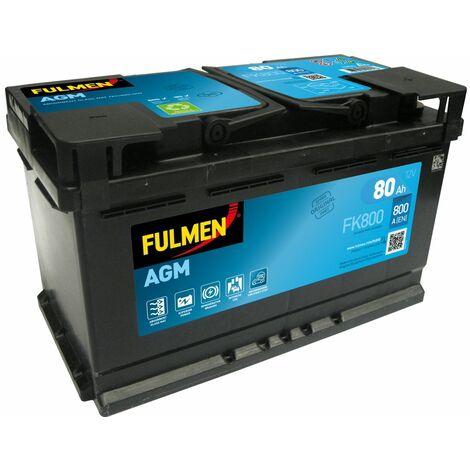 BATTERIE FULMEN START STOP AGM FK800 12V 80AH 800A