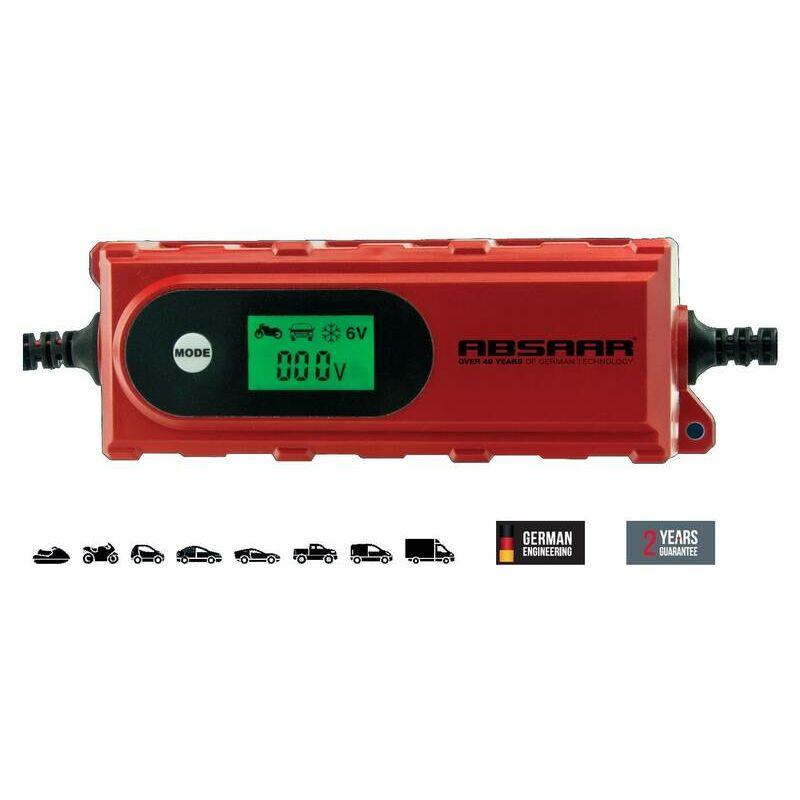 absaar autobatterie ladegerät 8 amp tragbar