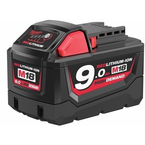 Batterie Li-ion 18V 9.0Ah MILWAUKEE - M18 - 4932451245