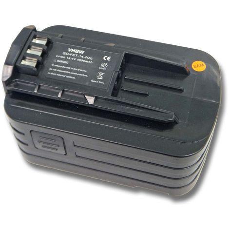 Batterie Li-Ion 4000mAh (14.4V) vhbw pour outil électronique Festo, Festool DRC15 Cordless Drill, DRC18 comme 494832, 498340, 498341, BPC 15, BPS 15.