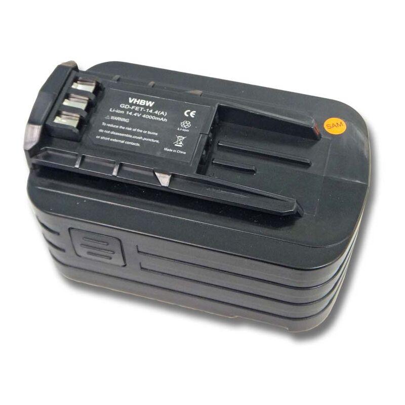 Batterie Li-Ion 4000mAh (14.4V) pour outils électroniques Festo, Festool C15, C15 Cordless Drill comme 494832, 498340, 498341, BPC 15, BPS 15 - Vhbw