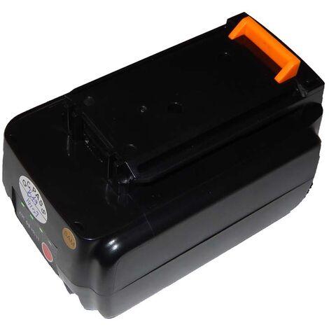 Batterie Li-Ion vhbw 1500mAh (36V) pour outils Black & Decker GTC3655L, GLC3630L, GWC3600L. Remplace: BL1336, BL2036.