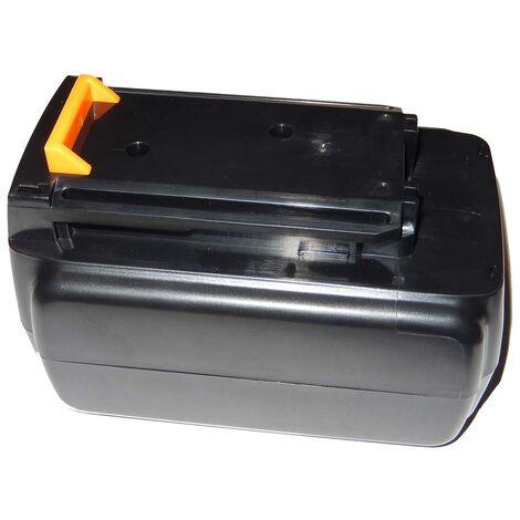 Batterie Li-Ion vhbw 2000mAh (36V) pour outils Black & Decker GLC3630L20, GWC3600L20, GTC3655L20 comme BL1336, BL2036.