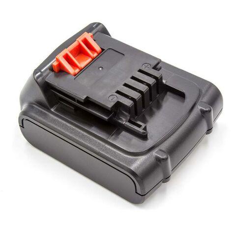 Batterie Li-ion vhbw 2000mAh pour outils Black & Decker EPL148, LDX116, LDX116C, LDX120C, LDX120SB. Remplace: Black & Decker BL1114, BL1314, BL1514