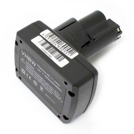 Batterie Li-Ion vhbw 4000mAh (12V) pour outils AEG, Milwaukee M12, M12 RED LITHIUM XC 4.0 comme 48-11-2440.