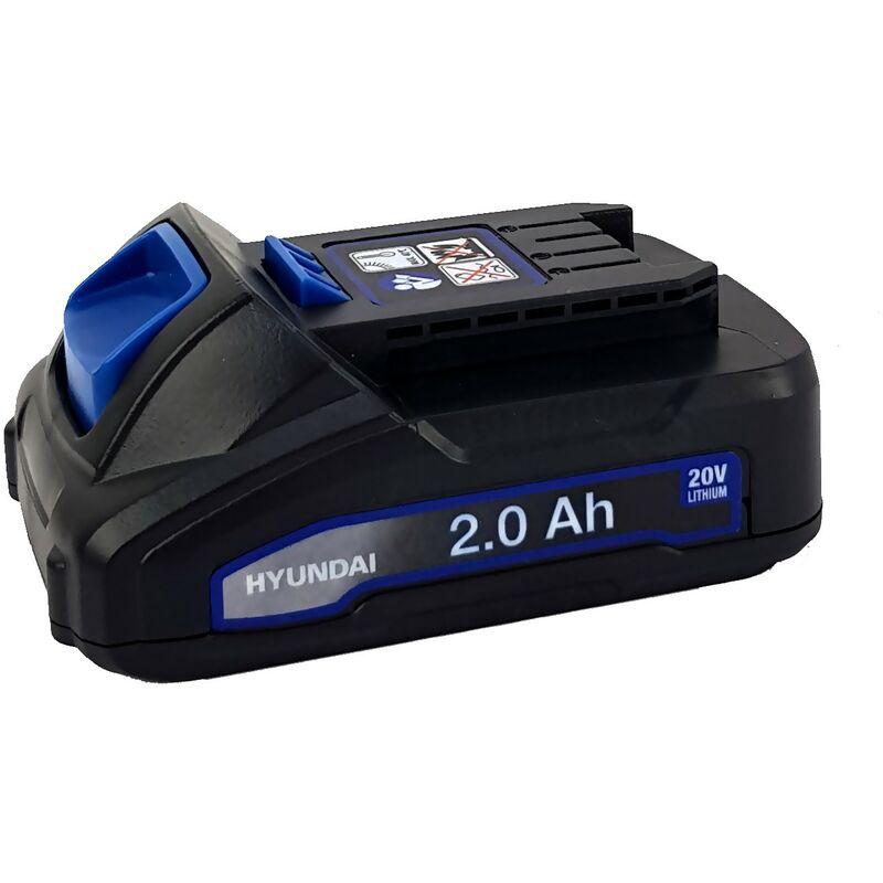 Batterie Lithium 2Ah - HYUNDAI HBA20U2 - pour outil électroportatif - 20V - compatible avec tous les outils de la gamme 20V