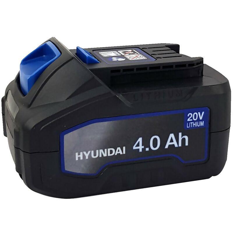 Batterie Lithium 4Ah - HYUNDAI HBA20U4 - pour outil électroportatif - 20V - compatible avec tous les outils de la gamme 20V