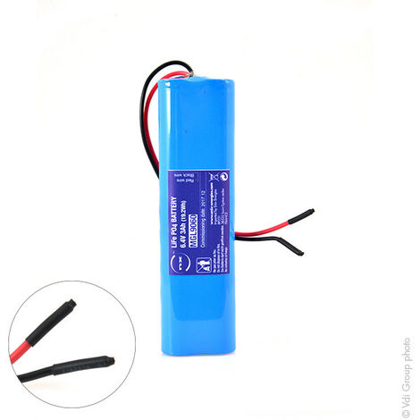 Batterie Lithium Fer Phosphate 2S2P IFR18650 + PCM (19.2Wh) UN38.3 6.4V 3Ah