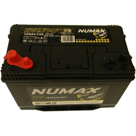 Batterie Marine Camping-cars Numax XV27MF 12V 100Ah / 720A