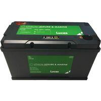 Batterie Marine Loisirs LUCAS LLX100 LITHIUM 100 AH GR31 330X173X 216