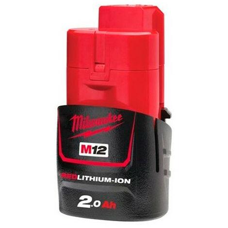 Batterie MILWAUKEE 12V 2Ah Red Li-Ion M12 B2 - 4932430064