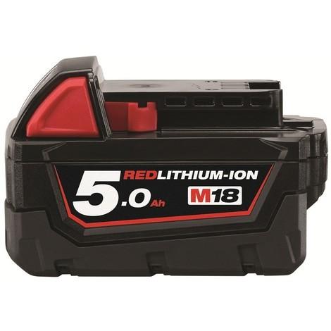 Batterie MILWAUKEE M18 B5 18V 5.0Ah RED Li-Ion Système M18 - 4932430483