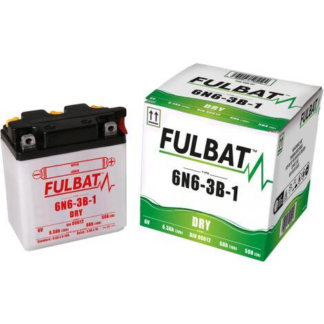 Batterie moto 6N6-3B-1 6V / 6Ah