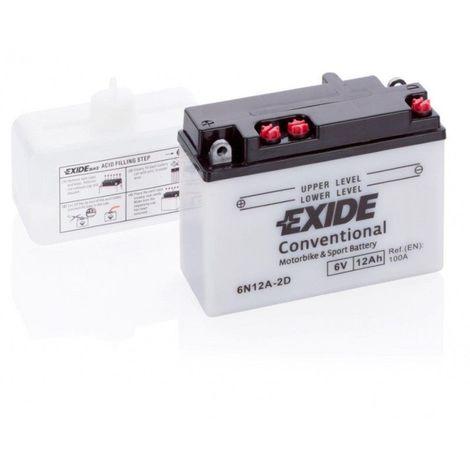 Batterie moto Exide 6N12A-2D 6v 12ah 80A