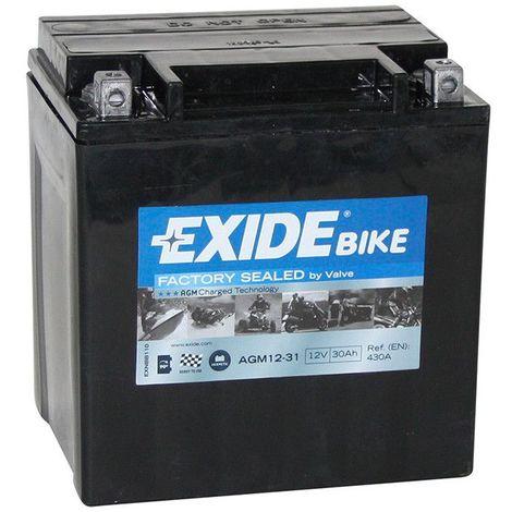Batterie moto Exide AGM12-31 12v 30ah 380A
