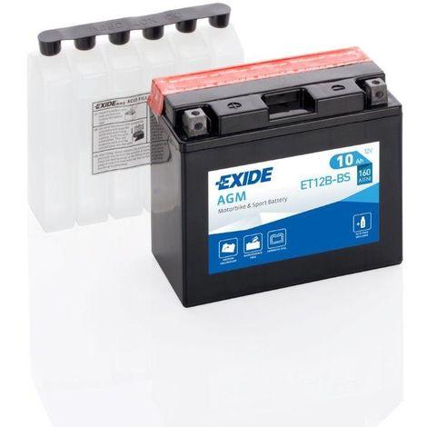 Batterie moto Exide ET12B-BS YT12B-BS 12v 10ah 180A