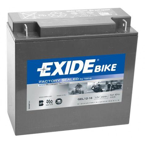 Batterie moto Exide GEL12-16 12v 16ah 100A